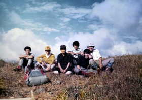 19751013-国体選抜選手で東鳳べん山を登る.JPG
