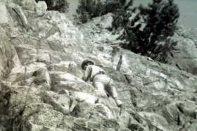 19751117-陶ヶ岳の国体ルートをリードする.JPG
